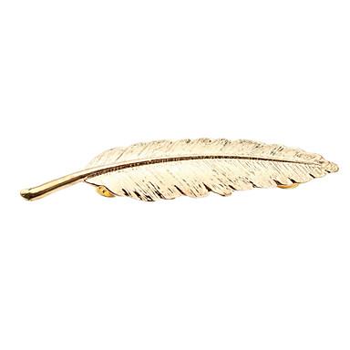 Damskie Broszki - Leaf Shape Europejski Broszka Gold / Silver Na Ślub / Impreza / Codzienny