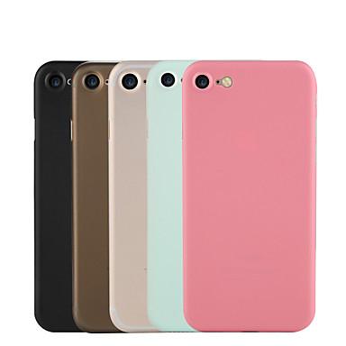 용 울트라 씬 / 반투명 케이스 뒷면 커버 케이스 단색 하드 PC 용 Apple 아이폰 7 플러스 / 아이폰 (7)