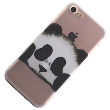 disegno TPU 8 7 iPhone Custodia Apple iPhone Per retro iPhone X 8 Fantasia 8 per Morbido Plus Per X Animali 05386039 Transparente iPhone Panda iPhone iPhone WxAanpvAq
