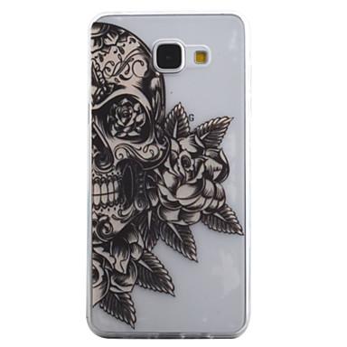 Kılıf Na Samsung Galaxy A5(2016) A3(2016) Przezroczyste Wzór Czarne etui Czaszki Miękkie TPU na A5(2016) A3(2016)