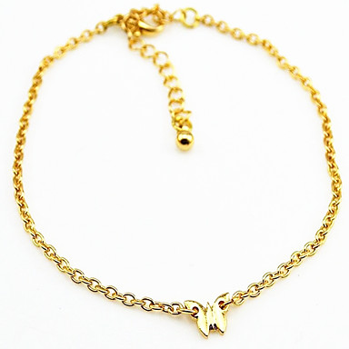 naisten kultainen hopeaseospinnoitteet nilkkaremmi 1kpl