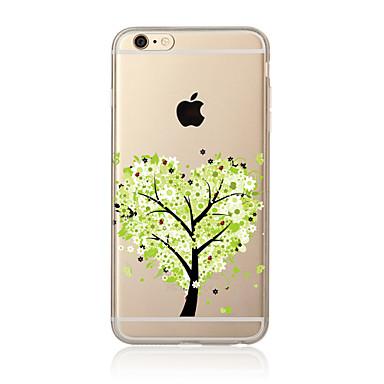 Kılıf Na Apple iPhone X iPhone 8 Plus Etui iPhone 5 iPhone 6 iPhone 7 Przezroczyste Wzór Czarne etui Drzewo Miękkie TPU na iPhone X