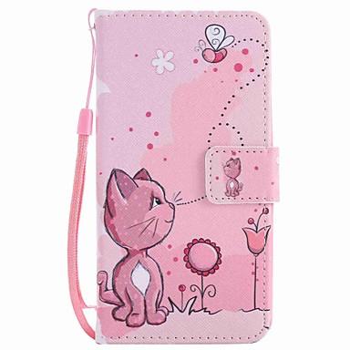 غطاء من أجل LG إل جي نيكزس 5X LG K10 LG K7 حامل البطاقات محفظة مع حامل غطاء كامل للجسم قطة قاسي جلد PU إلى LG X Power