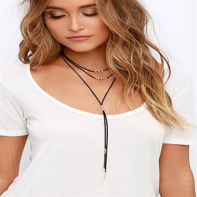 Жен. Ожерелья с подвесками Татуировка Choker  -  Тату-дизайн кисточка Мода Черный 30+10cm Ожерелье Назначение Повседневные