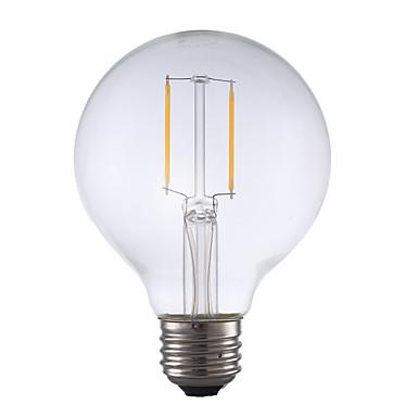 2W E26 LED Filament Bulbs G25 2 COB 220 lm Warm White Dimmable 120V 1 pcs