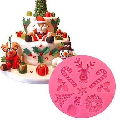 paistopinnan Jää Suklaa Leipä Kakku Cookie Cupcake Piirakka Pitsa Other Silikoni DIY 3D Korkealaatuinen Tarttumaton