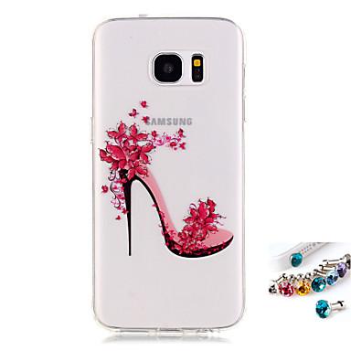 Etui Käyttötarkoitus Samsung Galaxy S7 edge S7 IMD Läpinäkyvä Kuvio Takakuori Sexy Lady Pehmeä TPU varten S7 edge S7 S6 edge S6 S5 Mini S5