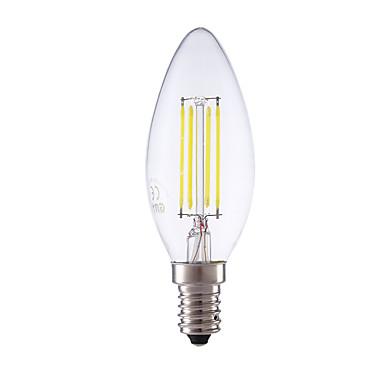 E14 Żarówka dekoracyjna LED B 4 Diody lED COB Przysłonięcia Ciepła biel Zimna biel 350/400lm 6500/2700K AC 220-240V