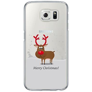 Недорогие Чехлы и кейсы для Galaxy S6-Кейс для Назначение SSamsung Galaxy S7 edge / S7 / S6 edge Ультратонкий / Полупрозрачный Кейс на заднюю панель Рождество Мягкий ТПУ
