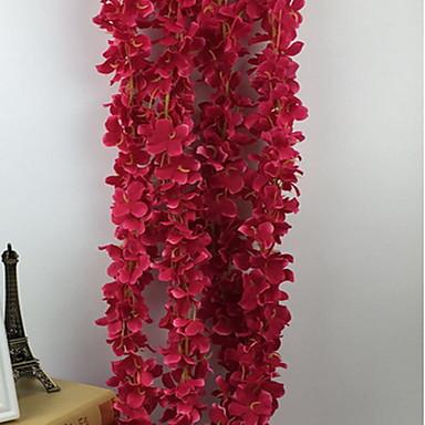 1 haara Muovi Others Hortensiat Others Seinäkukka Keinotekoinen Flowers
