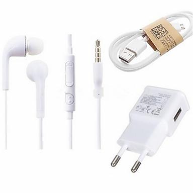 Carregador Fixo / Carregador Portátil Carregador USB Ficha EU Conjunto de Carregador 1 Porta USB 1 A para