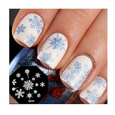 καρφί τέχνης σφραγίδα σφράγιση πλάκα πρότυπο χαριτωμένο νιφάδα χιονιού νυχιών σχεδιασμός εργαλείου