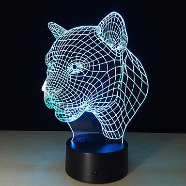 1pc 2016 leopar kafa indüksiyon lamba lamba yenilik ürünleri led akıllı yaratıcı hediyeler 3d görsel tükettiği