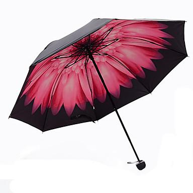 الوردي مظلة ملطية مظلة الشمس Plastic العرباية