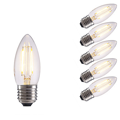 E26/E27 Żarówka dekoracyjna LED B 2 Diody lED COB Ciepła biel Zimna biel 250lm 6500/2700K AC 220-240V