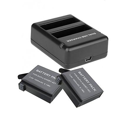 Ładowarka do akumulatorów bateria Dla Action Camera Gopro 4 Silver Gopro 4 Session Univerzál Podróże ABS