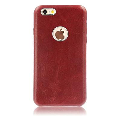 Käyttötarkoitus iPhone X iPhone 8 iPhone 7 iPhone 7 Plus iPhone 6 kotelot kuoret Kuvio Takakuori Etui Yhtenäinen väri Kova Nahka varten