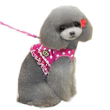 قط كلب أربطة المقاود ناعم الأمان ركض سترة عادية منقط شخصية كارتون تيجان و أميرات قماش أسود وردي