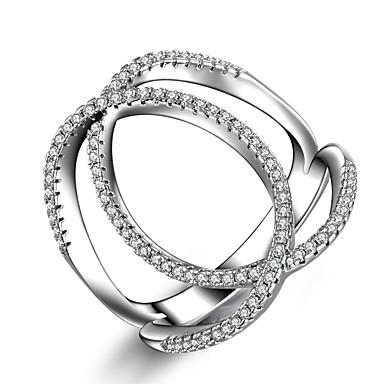 Női Ezüst Eljegyzési gyűrű Ujjperc gyűrű Gyűrű Band Ring - Divat Ezüst Gyűrű Kompatibilitás Esküvő Parti Hétköznapi Sport