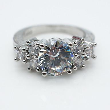 Κρίκοι / Καθημερινά Causal Κοσμήματα Κράμα Γυναικεία Βέρες Δαχτυλίδι 1pc,6 7 8 9 Ασημί