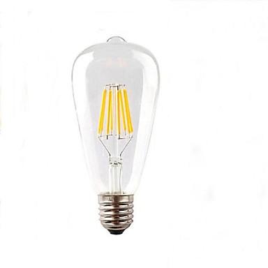 220-280 lm E26/E27 Bulb LED Glob ST64 8 led-uri LED Putere Mare Decorativ Alb Cald AC 220-240V