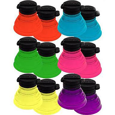 6pcs set yeniden kullanılabilir şişe kapaklar soda koruyucular toppers çift blister paketi dönüştürebilirsiniz