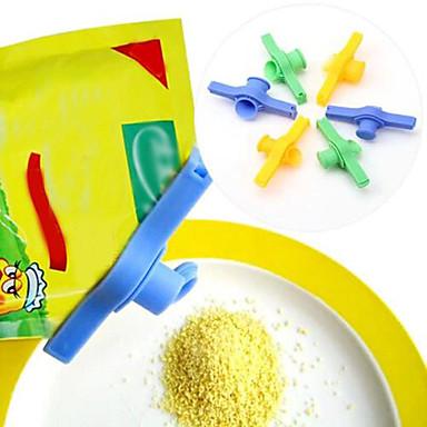 Şeker tuzu sızdırmazlık torbası kelepçe boşaltma memesi gıda borusu mühürlü klips çıkışı