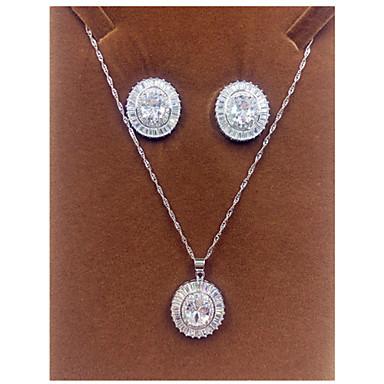 Γυναικεία Ζιρκονίτης Cubic Zirconia Κοσμήματα Σετ Cercei Κολιέ - μινιμαλιστικό στυλ Ασημί Για Πάρτι