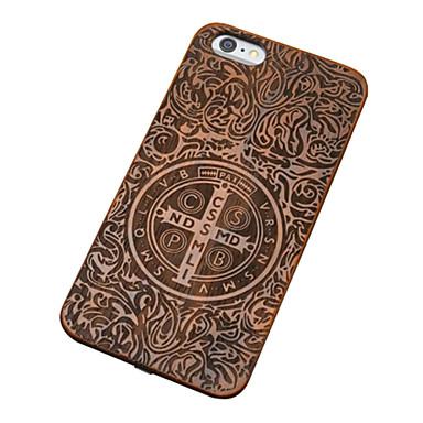 Capinha Para Apple iPhone X iPhone 8 iPhone 6 iPhone 6 Plus Estampada Capa traseira Madeira Rígida De madeira para iPhone X iPhone 8 Plus