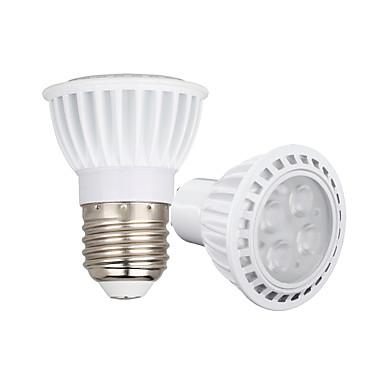 GU10 E26/E27 LED Spot Işıkları 4 led SMD 3030 Kısılabilir Sıcak Beyaz Serin Beyaz 450-550lm 3000-6500K AC110 AC220 AC 85-265V