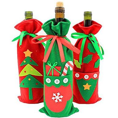 noel dekorasyonları yılbaşı ürünleri renk rastgele şeker çanta yeni şişe seti şampanya şarap hediye çanta