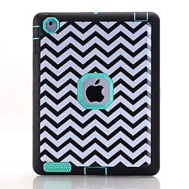 Varten Vesi / Dirt / Shock Proof Kuvio Etui Kokonaan peittävä Etui Linjat / aallot Kova TPU varten Apple iPad 4/3/2