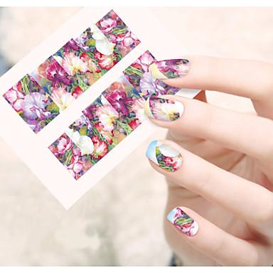 1 Nail Art matrica Víz Transfer matrica Virág Rajzfilmfigura Szeretetreméltő smink Kozmetika Nail Art Design