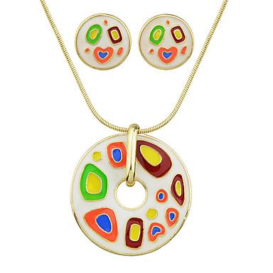 Κοσμήματα Κολιέ / Cercei Πάρτι / Καθημερινά 1set Γυναικεία Μαύρο / Λευκό / Κόκκινο Δώρα Γάμου