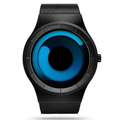 levne Pánské-SINOBI Pánské Sportovní hodinky Náramkové hodinky Křemenný Nerez Černá 30 m Voděodolné Odolný vůči nárazu Analogové Luxus Na běžné nošení Unikátní kreativní sledování - Modrá Černá / Modrá Bíl