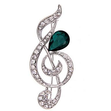 Damskie Broszki Kryształ Modny biżuteria kostiumowa Imitacja diamentu Nutka Biżuteria Na Codzienny