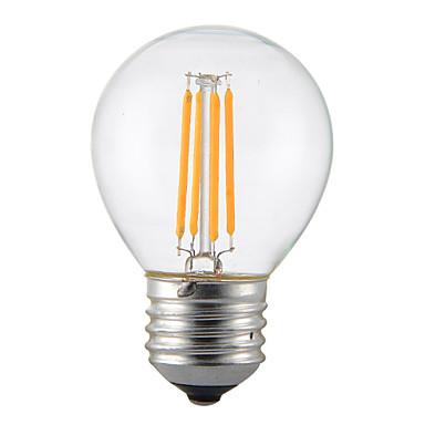 1adet 4w e14 b22 e26 / e27 ledli filament ampuller g45 4 ledler küp dimmerable dekoratif sıcak beyaz 300-350lm 2300-2700k ac 110v ac22v