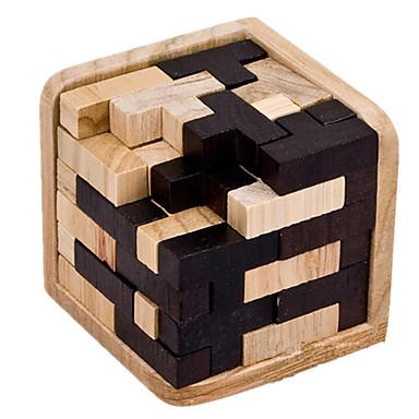 Tetris Puzzle Lemn Jocuri IQ Ansamblu & Descurcare puzzle-uri Kong Ming Lock Luban de blocare Jucarii Jucarii Pătrat Novelty Test de