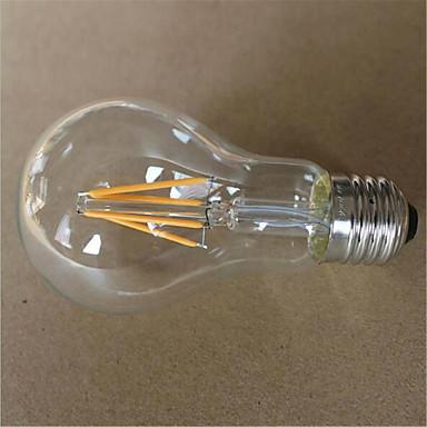 1szt 500-550lm E26 / E27 Żarówka dekoracyjna LED A60(A19) 6 Koraliki LED COB Dekoracyjna Ciepła biel Zimna biel 220-240V