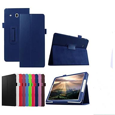 voordelige Samsung Tab-serie hoesjes / covers-hoesje Voor Samsung Galaxy Tab E 9.6 met standaard / Flip Volledig hoesje Effen Hard PU-nahka