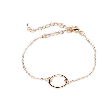 Damskie Bransoletki i łańcuszki na rękę Miłość Osobiste Europejski Miedź Circle Shape Biżuteria Biżuteria Na Codzienny Casual