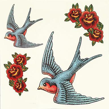 1db halloween tetoválás paszta színe tetoválás matrica nagyobb méretben vízálló állat
