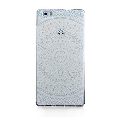 Para Capinha Huawei / P8 / P8 Lite Transparente Capinha Capa Traseira Capinha Mandala Macia TPU Huawei Huawei P8 / Huawei P8 Lite