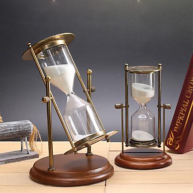 Hourglass ألعاب أسطواني مكتب / الأعمال زجاج معدن فتيات صبيان 1 قطع