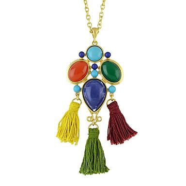 Kadın Uçlu Kolyeler Cross Shape Mücevher alaşım Basic Tasarım Moda Gökküşağı Mücevher Için Günlük 1pc