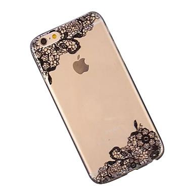 Voor iPhone 6 hoesje / iPhone 6 Plus hoesje Transparant / Patroon hoesje Achterkantje hoesje Kanten ontwerp Zacht TPUiPhone 6s Plus/6