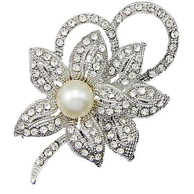 Kadın Broşlar lüks mücevher İnci Simüle Elmas Mücevher Uyumluluk Günlük
