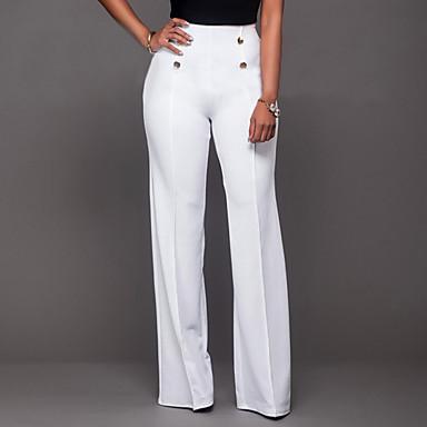 ieftine Pantaloni de Damă-Pentru femei Zilnic Ieșire Bootcut / Picior Larg / Pantaloni Chinos Pantaloni - Mată Stil Oficial Negru Fucsia Roșu Vin L XL XXL