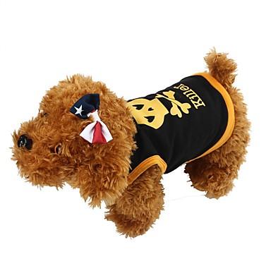 Koirat T-paita Liivi Koiran vaatteet Kesä Pääkallot Muoti Rento/arki Halloween Tumman sininen Keltainen Punainen Sininen Musta