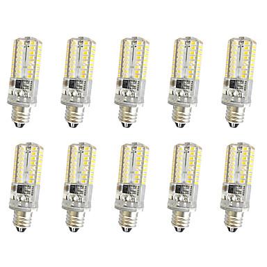 3W E14 E12 E11 Διακοσμητικό Φως T 64 SMD 3014 300 lm Θερμό Λευκό Ψυχρό Λευκό κ Με ροοστάτη AC220 V